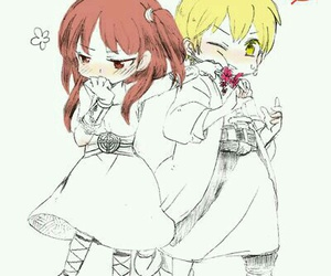 anime, chibi, and anime couple image
