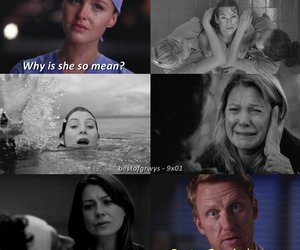 death, meredith grey, and owen hunt image
