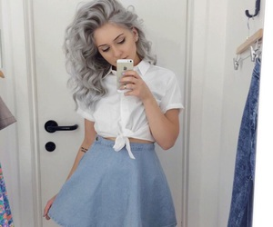 hair, outfit, and tumblr image
