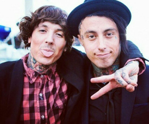 ronnie radke, oliver sykes, and bring me the horizon image