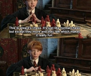 harry potter, ron weasley, and chess image