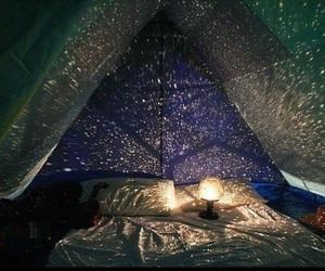 light, stars, and night image