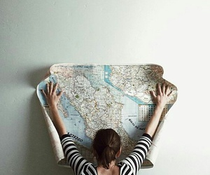 travel, map, and girl image