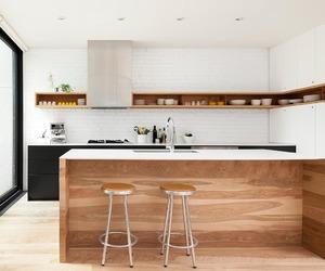 kitchen, shelf, and wood image
