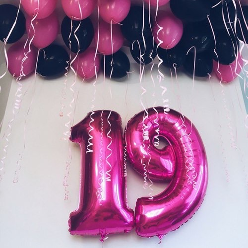 number 19 at my birthday