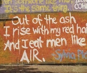 quote and sylvia plath image