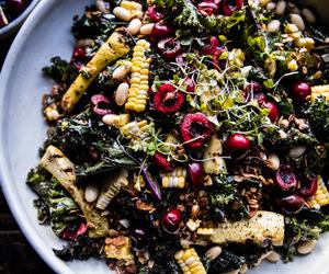 cherry, food, and granola image