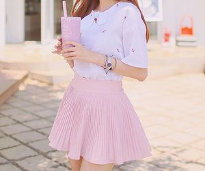 pink, style, and kfashion image