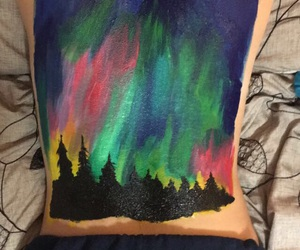 art, body art, and northern lights image