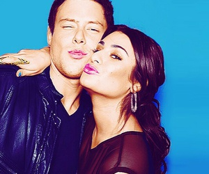 glee, cory monteith, and lea michele image