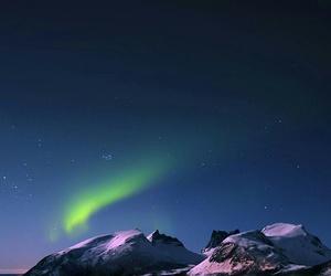 night, beautiful, and mountains image