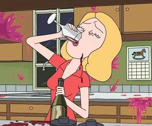alcohol, wine, and cartoon image
