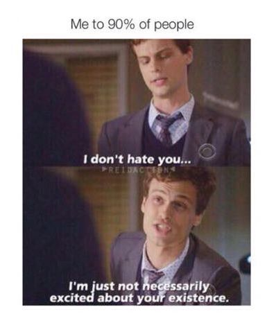 criminal minds, funny, and hate image