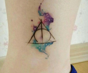 harry potter, hp, and tattoo image