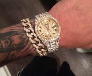 justin bieber, gold, and watch image