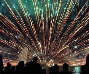 fireworks, japan, and suwa image