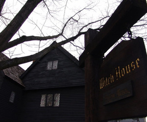 witch, black, and house image