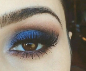 beauty, blue, and make up image
