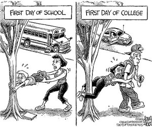 school, funny, and college image