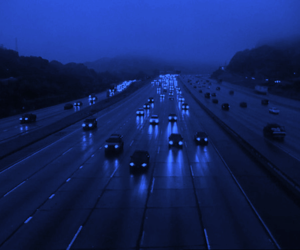 car, blue, and light image