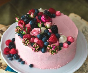 cake, eat, and flower image