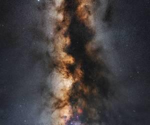 stars, galaxy, and winter image
