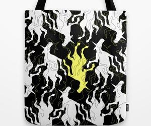 fashion, unicorn, and tote bag image