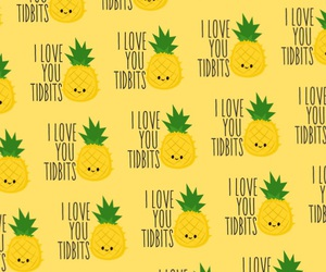 i, love, and pineapple image