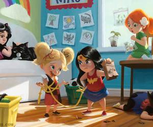 catwoman, Supergirl, and wonder woman image
