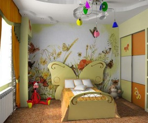 interior decoration, yellow, and kids room great ideas image