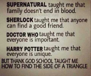 sherlock, supernatural, and harry potter image