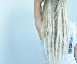 blonde, blue, and girl image