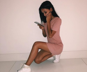 pink, outfit, and dress image