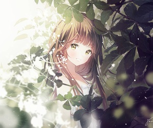 anime, girl, and nature image