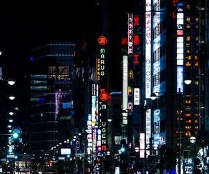night, japan, and light image