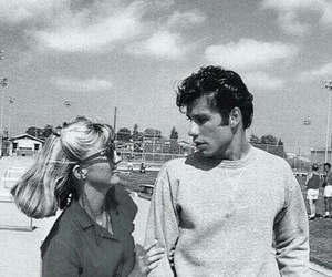 grease, couple, and movie image