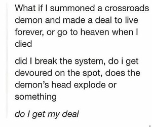 deal, dean winchester, and demons image