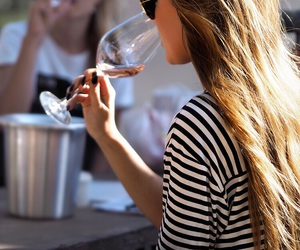 fashion, wine, and girl image