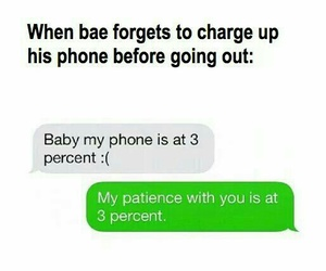 funny, couple, and text image