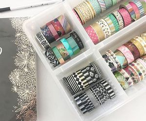 washi tape and college image