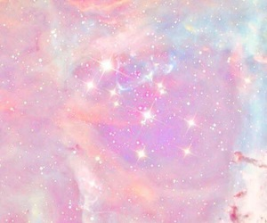 wallpaper, galaxy, and pink image