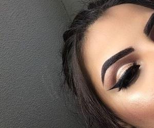 eyebrows, fleek, and eyeliner image