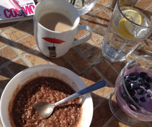 breakfast, coffe, and eating image