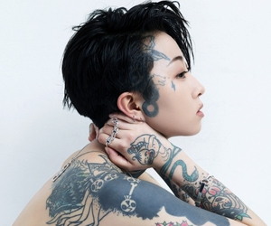 tattoo, girl, and asian image