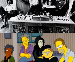 the beatles, the simpsons, and beatles image