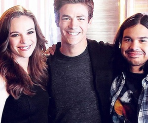 grant gustin, danielle panabaker, and flash image
