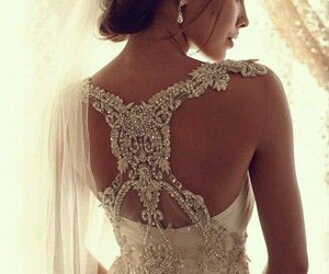 beautiful wedding dress image