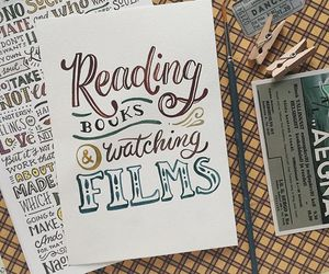 books, film, and inspiration image