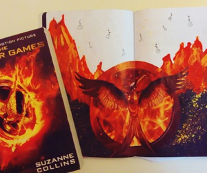 art, book, and the hunger games image