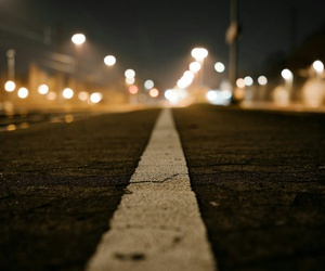 road, street, and light image